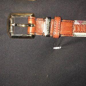 Brown housecheck Burberry belt